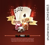 pocker casino gambling set with ... | Shutterstock .eps vector #224414815