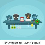 jewelry shop display concept... | Shutterstock .eps vector #224414836