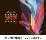 abstract vector background with ... | Shutterstock .eps vector #224415952