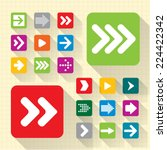 arrow icon set. vector.  | Shutterstock .eps vector #224422342