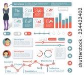 flat interface design element... | Shutterstock .eps vector #224422402