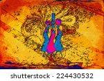 african motive ethnic retro... | Shutterstock . vector #224430532