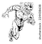 a bear man character or sports... | Shutterstock . vector #224438638