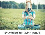 Horse Mask Unreal Hipster Woma...