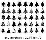 set of christmas trees