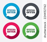 special offer sign icon. sale... | Shutterstock .eps vector #224452762