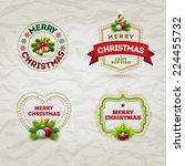 vector modern christmas and new ... | Shutterstock .eps vector #224455732