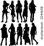 set of ten female fashion... | Shutterstock .eps vector #2244658
