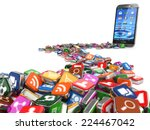 software. smartphone or mobile... | Shutterstock . vector #224467042