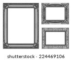 set 3 of vintage gray frame... | Shutterstock . vector #224469106
