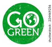 go green logo circle  grunge ...