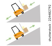 ramp up and down forklift safety | Shutterstock .eps vector #224482792