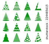 christmas tree icon set.   Shutterstock .eps vector #224485615