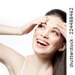closeup portrait of attractive  ... | Shutterstock . vector #224488462