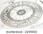 horoscope wheel chart blured on ... | Shutterstock . vector #2245002