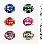 try it now button icon vector... | Shutterstock .eps vector #224500678