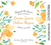 invitation bridal shower card... | Shutterstock .eps vector #224504386