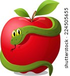 Apple With Snake Evil...