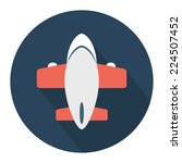 flat airplane icon with long...   Shutterstock .eps vector #224507452