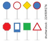 blank traffic sign set one... | Shutterstock .eps vector #224509276