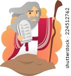 moses with the tablets of the... | Shutterstock .eps vector #224512762