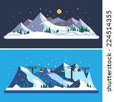 ski resort. mountain landscapes....   Shutterstock .eps vector #224514355