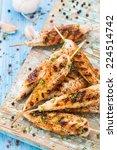 chicken skewers | Shutterstock . vector #224514742