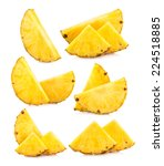 set of pineapple slices images | Shutterstock . vector #224518885