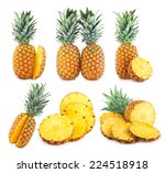set of 6 pineapple images | Shutterstock . vector #224518918