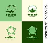 floral logo template  cotton... | Shutterstock .eps vector #224522092