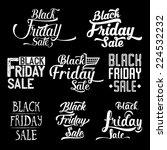 black friday calligraphic... | Shutterstock .eps vector #224532232