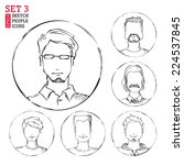 Sketch People Icons. Men Hand...
