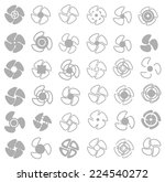 vector propellers icons set | Shutterstock .eps vector #224540272