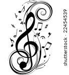vector music theme   Shutterstock .eps vector #22454539