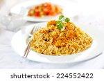 prawn biryani | Shutterstock . vector #224552422