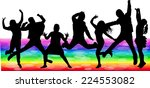 dancing silhouettes | Shutterstock .eps vector #224553082