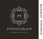 simple and graceful monogram... | Shutterstock .eps vector #224556748