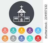 church. single flat icon on the ... | Shutterstock . vector #224557132