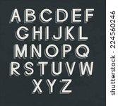 retro alphabet on blackboard....   Shutterstock .eps vector #224560246