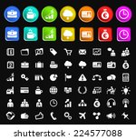 set of 50 standard quality... | Shutterstock .eps vector #224577088