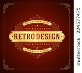 vintage label template. retro... | Shutterstock .eps vector #224577475
