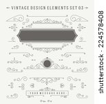 vintage vector ornaments... | Shutterstock .eps vector #224578408