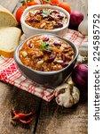 homemade chilli con carne  bio... | Shutterstock . vector #224585752
