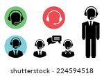 vector call center icons of... | Shutterstock .eps vector #224594518