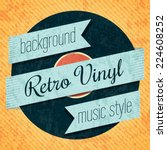 vector retro color vinyl record ... | Shutterstock .eps vector #224608252
