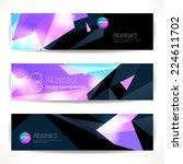 set of purple geometric... | Shutterstock .eps vector #224611702