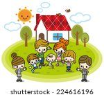 home and family | Shutterstock .eps vector #224616196