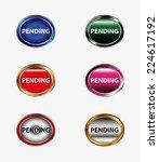 pending icon button  | Shutterstock .eps vector #224617192