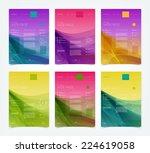 vector abstract website design... | Shutterstock .eps vector #224619058