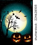 halloween background | Shutterstock .eps vector #224628505